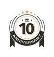 birthday vintage logo template to 10 th