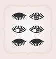 black bstract feminine eyes set with no faces vector image vector image