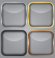 Blank app icons set vector image vector image