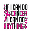 breast cancer quote and saying vector image vector image