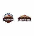 camp traveling logo vector image