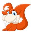Cartoon adorable squirrel waving hand vector image vector image