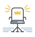 Chair icon isolated vector image vector image