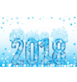 christmas 2018 vector image vector image