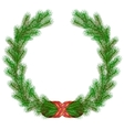 Christmas fir branch wreath frame vector | Price: 1 Credit (USD $1)