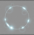 circle of light aqua color vector image vector image