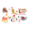 collection of christmas cats vector image