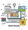 computing protecting data base graphic vector image vector image