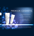 cosmetic product poster white bottle package vector image vector image