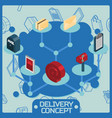 delivery color isometric concept vector image vector image