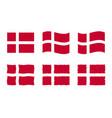 denmark flag set official vector image