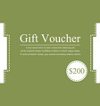 design gift voucher style background vector image