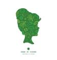 ecology symbols girl portrait silhouette pattern vector image