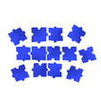 flat several piece vector image