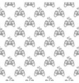 gamepad pattern gaming controller seamless vector image vector image