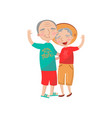 happy mature couple embracing cartoon vector image vector image
