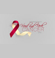 head and neck cancer awareness calligraphy poster vector image