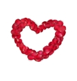 Heart of red rose petals isolated EPS 10 vector image vector image