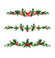 holly holiday banner vector image