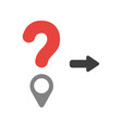 icon concept of question mark with map pointer vector image
