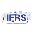 ifrs concept with big word or text and team vector image vector image