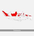 indonesia map flag vector image