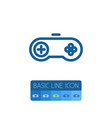 isolated video-game outline arcade element vector image vector image