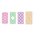 korean rectangle window frame in design vector image vector image