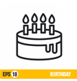line icon birthday vector image