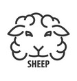 line icon of sheep vector image vector image