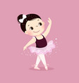 little ballerina girl dancing kid in ballet class vector image