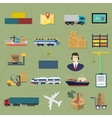 Logistic icons Delivery cargo service vector image vector image