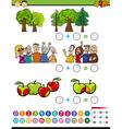 mathematical algebra task for kids vector image vector image