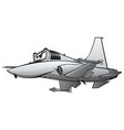 military fighter jet airplane cartoon vector image vector image