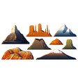 mountains peaks landscape early in a daylight vector image vector image