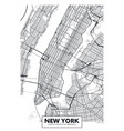 poster map city new york vector image vector image