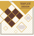 rhombus pattern template poster design vector image vector image