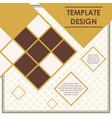 rhombus pattern template poster design vector image