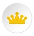 royal crown icon circle vector image vector image