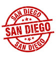 san diego red round grunge stamp vector image vector image
