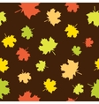 Seamless background with maple vector image vector image