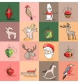 Seamless pattern with traditional Christmas vector image vector image