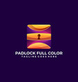 security colorful concept design template vector image vector image