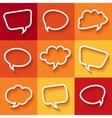 Set of flat speech bubbles vector image vector image