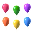 Set of Photorealistic Air Balloons Isolated vector image