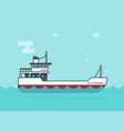 ship empty flat cartoon boat vector image