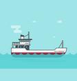 ship empty flat cartoon boat vector image vector image