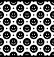 smile icon pattern happy faces on a black vector image vector image