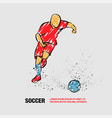 soccer player running with ball vector image vector image