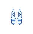 spark plug line icon concept spark plug flat vector image vector image